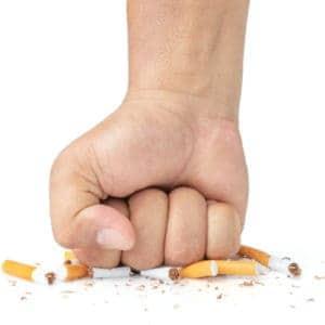 Man,Hand,Smash,Cigarette,On,White,Background,,Man's,Fist,Crushing