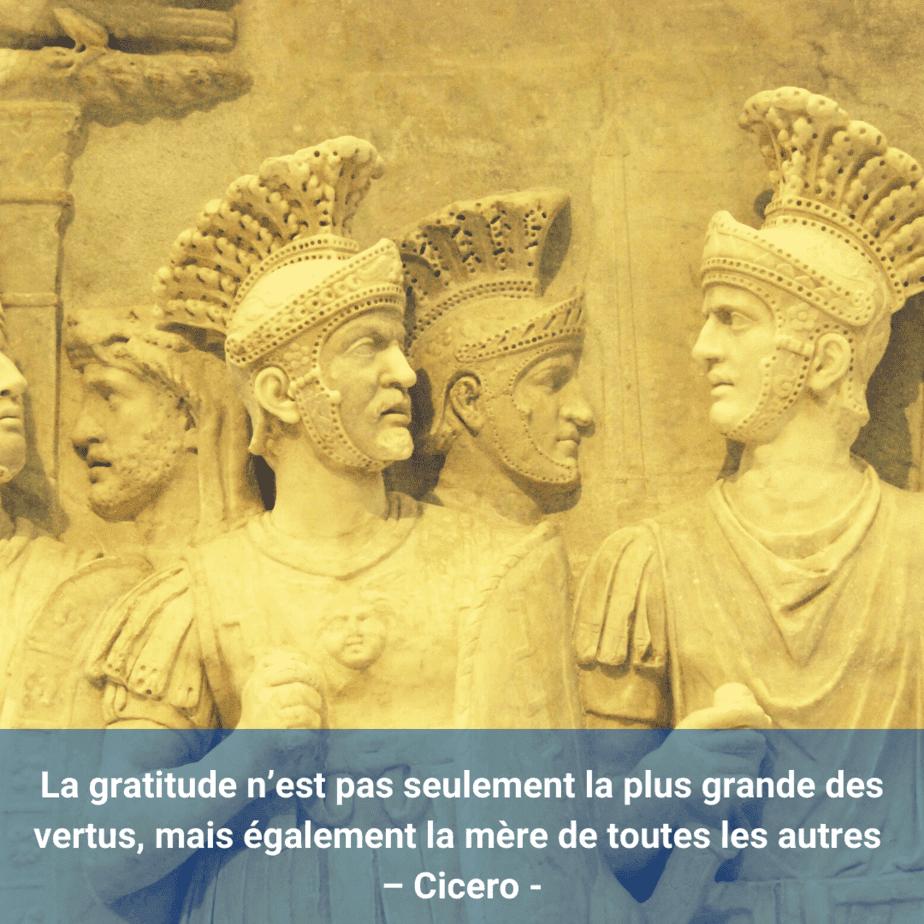 fresque romaine- citation-gratitude-Cicero-